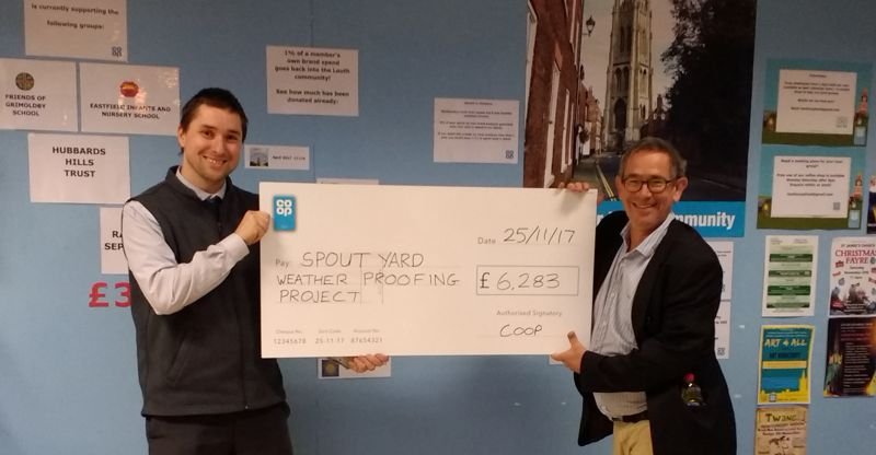 Co-Op Presentation of Cheque to Spout Yard Committee